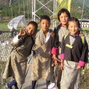 Schoolchildren in Paro